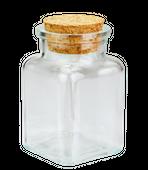 Szklany słoiczek na przyprawy z korkiem 150ml