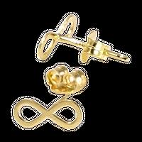 HOPE Kolczyki złote infinity sztyft