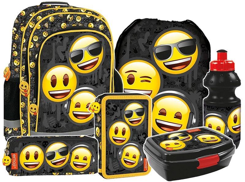 Plecak szkolny Emoji EMOTIKONY (PL15BEM10SET6CZ) ZESTAW 6 el.