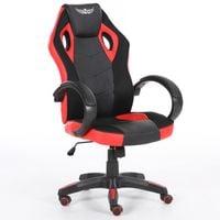 Obrotowy fotel gamingowy NORDHOLD - ULLR gracz - czerwony/red