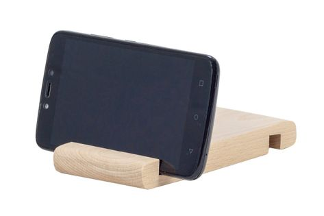 Drewniana podstawka pod telefon lub tablet