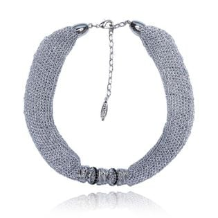 Krótki srebrny naszyjnik