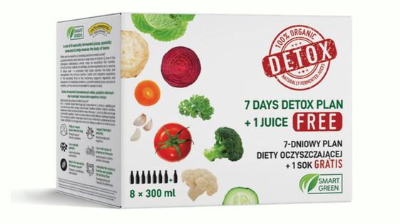 Detox Box Zestaw 7 Dniowego Detoksu Sokami Smart Green