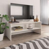 Lumarko Szafka pod TV, biała, 100 x 40 x 40 cm, płyta wiórowa!
