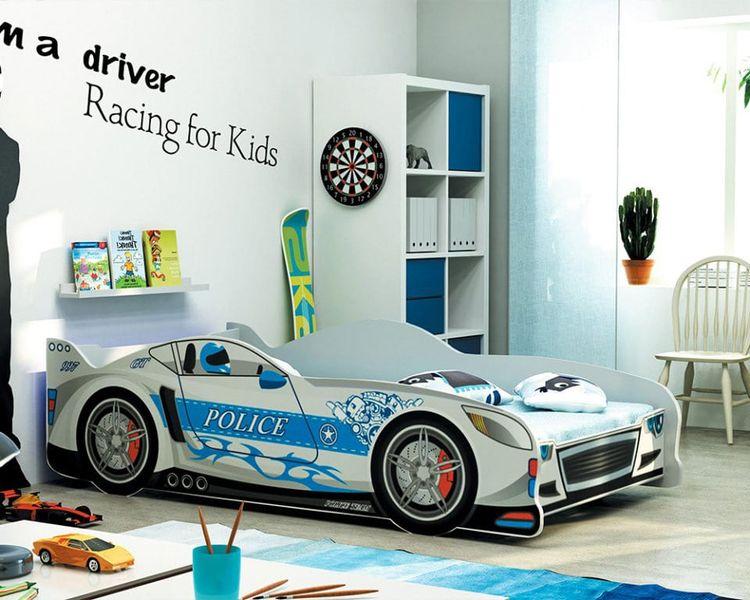 Łóżko AUTO dla dzieci CARS 160x80 + STELAŻ GRATIS zdjęcie 7