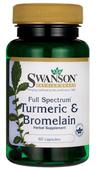 Kurkuma z bromeliną FS Turmeric & Bromelain 60 kapsułek Swanson