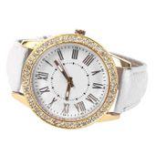 Zegarek damski, Geneva, złoty z kryształkami, 3 kolory, pasek, NOWY zdjęcie 4