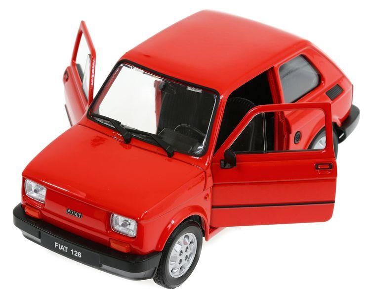 MODEL METALowy Fiat 126 Maluch SKALA 1:21 WELLY zdjęcie 1