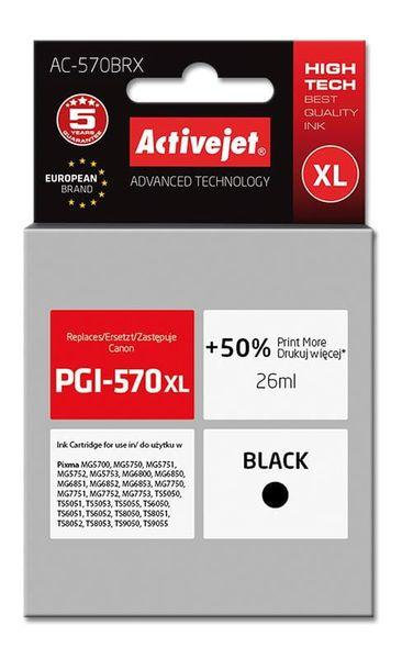 Tusz Activejet AC-570BRX (zamiennik Canon PGI-570XL; Premium; 26 ml; czarny) na Arena.pl