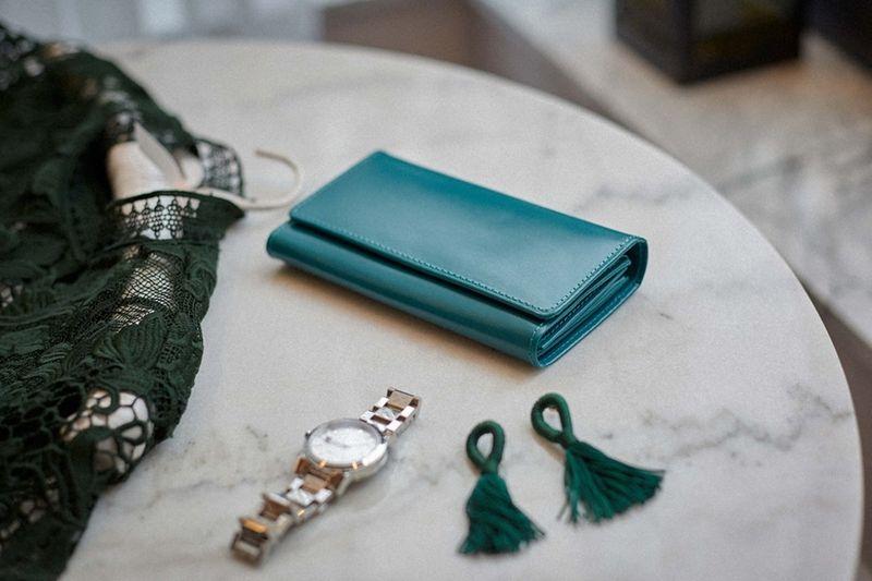 Elegancki portfel skórzany damski TURKUSOWY skóra naturalna BELVEDER zdjęcie 10