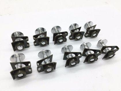 Spinki do owiewek M6, Kołki montażowe 6mm, Blaszki, Śrubki, Zapinki