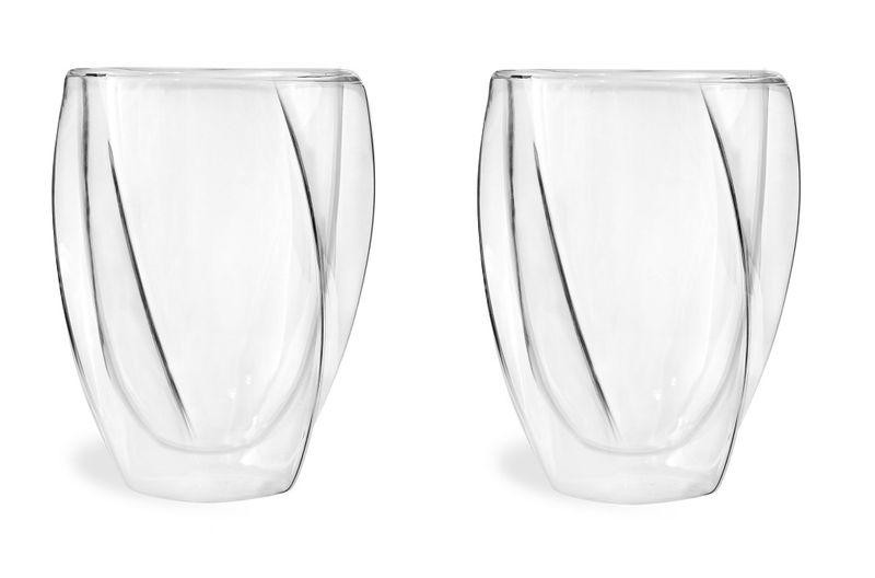 Szklanki Termiczne z Podwójną Ścianką do Kawy Latte Herbaty 300ml 6szt zdjęcie 2