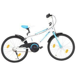 Rower dla dzieci, 20 cali, niebiesko-biały