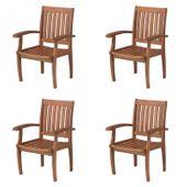 Ekskluzywne fotele krzesła drewniane fotel ogrodowy eukaliptus 4 szt