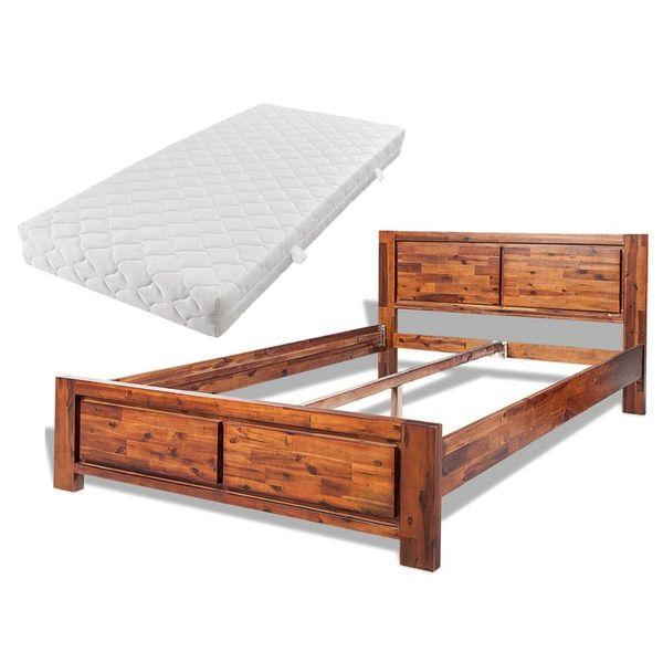 łóżko Rama łóżka Z Materacem Drewniane 180x200