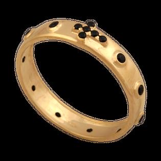 obrączka różaniec rozmiar: 11 złoto 585/14k z cyrkoniami