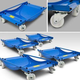 15322 Zestaw solidnych wózków manewrowych warsztatowych BITUXX 4 szt