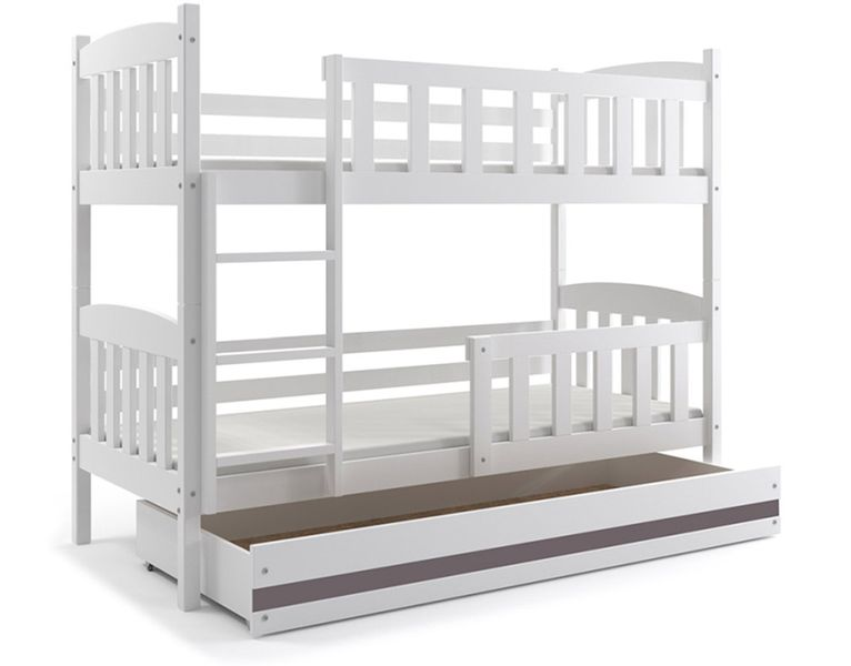 Łóżko piętrowe dla dzieci Kubuś 190x80 dziecięce + MATERAC + SZUFLADA zdjęcie 8