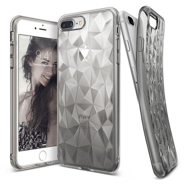 Ringke Air Prism Designerskie Żelowe Etui Pokrowiec 3D Iphone 8 Plus / 7 Plus Szary (Apap0008) zdjęcie 1