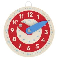 Podręczny zegar do nauki godzin drewniany