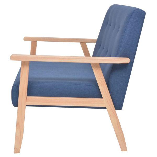 2-osobowa sofa tapicerowana, niebieska zdjęcie 4