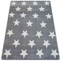 Dywan SKETCH - FA68 szaro/biały - Gwiazdki Gwiazdy szary 120x170 cm