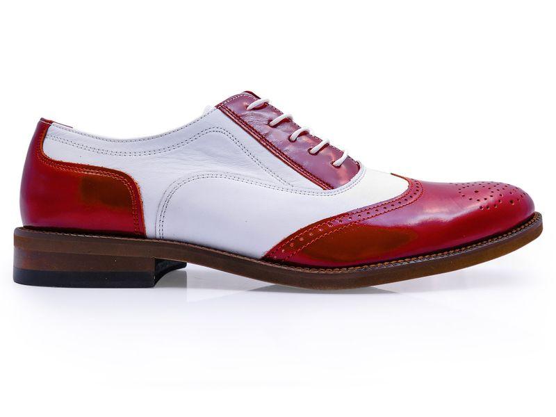 ab9c265bc6a3a Czerwono-białe obuwie męskie - spektatory T98 Rozmiar Obuwia - 42 zdjęcie 1