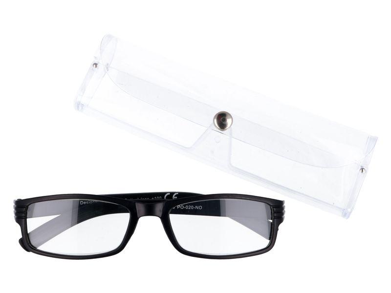 Korekcyjne okulary do czytania czarne plusy +1.00 zdjęcie 1