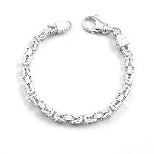 Bransoleta srebrna splot królewski bizantyjski 21 cm