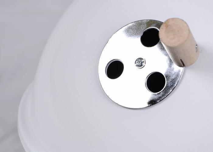 Kolorowy kulisty grill przenośny - biały D00691 zdjęcie 2