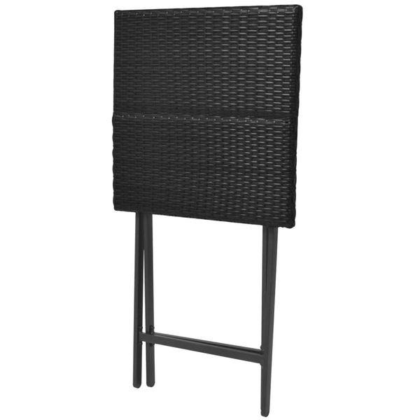 Meble Ogrodowe Stolik Stół 4 Krzesła Składane Polirattan