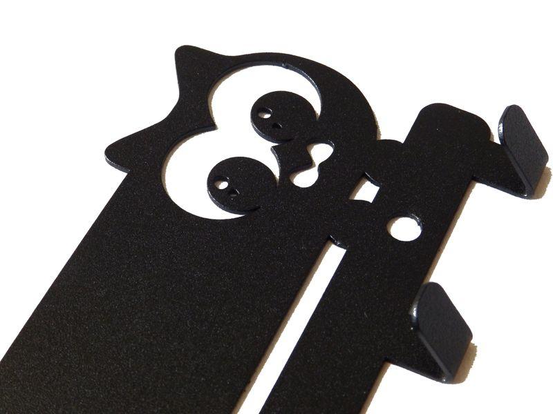 Metalowy wieszak ścienny na ubrania klucze - KOT zdjęcie 9