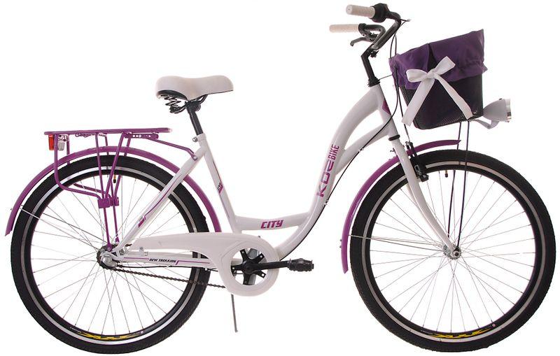 Kozbike Damski Rower Miejski 26 Damka 3 Biegi z Koszem (15) zdjęcie 1