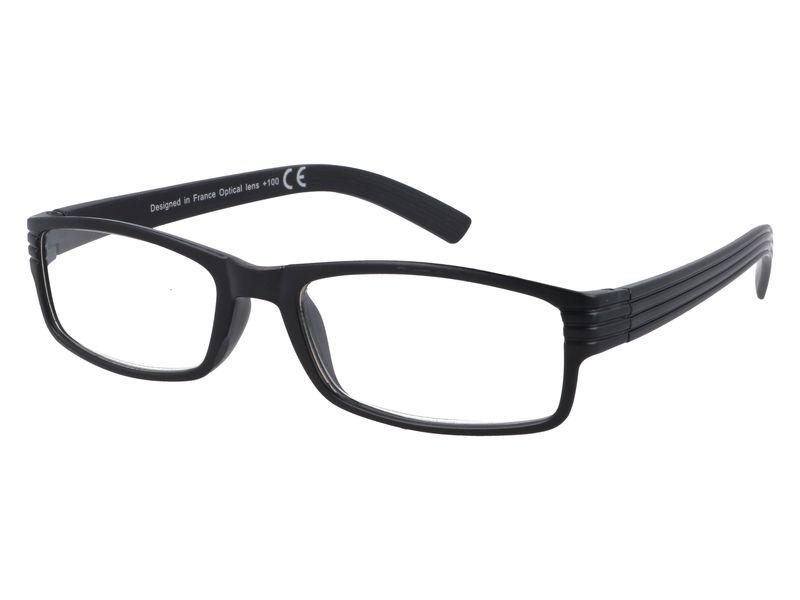 Korekcyjne okulary do czytania czarne plusy +1.00 zdjęcie 2