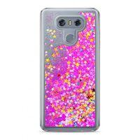Etui Nakładka Płynny Brokat  LG G6 Różowy