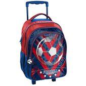Lekki plecak szkolny na kółkach Paso Football, piłka nożna