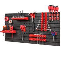 Tablica ścianka narzędziowa do garażu + 20 uchwytów, 2 półki PRO-MIX44