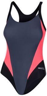 Kostium pływacki SONIA Rozmiar - Stroje damskie - 44(2XL), Kolor - Sonia - 133 - szary / czarny / koral