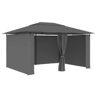 Namiot ogrodowy z zasłonami, 4x3m, antracytowy