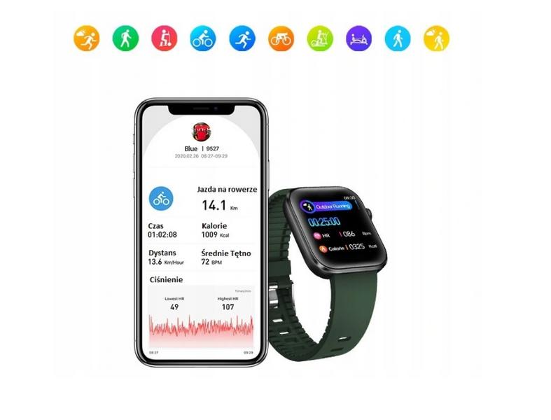 Smartwatch Zdrowotny Puls Ciśnienie EKG Natlenienie SPORT na Arena.pl