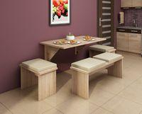 Stół składany przyścienny Alpin 9 - 130x70 cm - bez taboretów