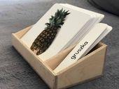 Pudełko do kart trójdzielnych 14x14 Montessori FAKTURA