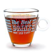 KUBEK SZKLANY szklanka z uchem BEST DRINK 300 ml