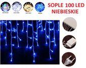 SOPLE 100 LED LAMPKI CHOINKOWE NIEBIESKIE