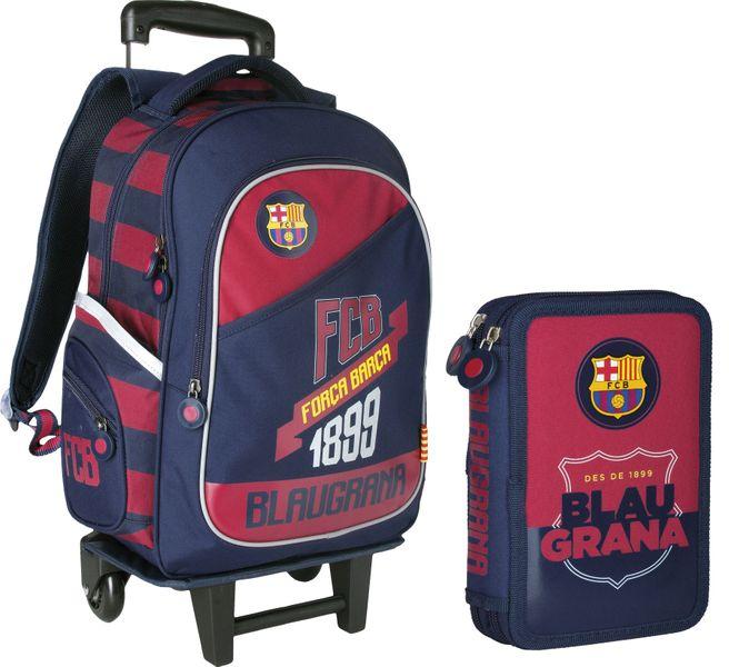 Plecak na kółkach FC Barcelona + piórnik gratis !! zdjęcie 1