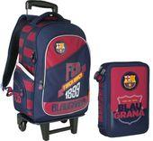 Plecak na kółkach FC Barcelona + piórnik gratis !!