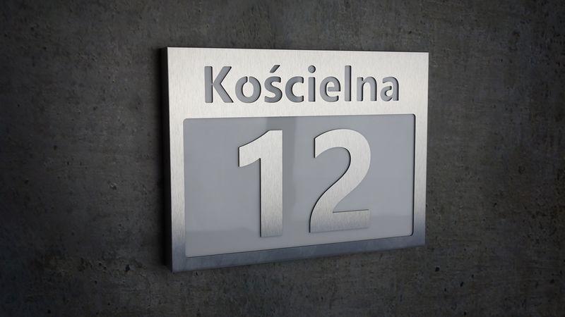 Unikalne Podświetlany numer domu FT LED INOX 30 cm x 40 cm • Arena.pl YV95