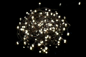 Lampki świąteczne 200 LED - ciepłe białe