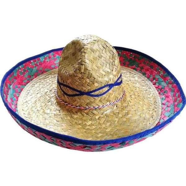 Sombrero słomkowe z haftem 48 cm