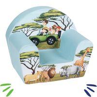 DELSIT mięciutki fotelik pufa z pianki dla dziecka Safari